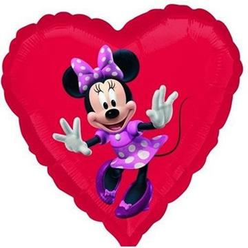 Obrázek Foliový balonek srdce Minnie 45 cm