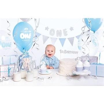 Obrázek Dekorační sada 1st Birthday party stříbrná