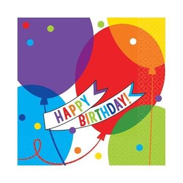 Obrázek Papírové party ubrousky Brilliant Balloons 36 ks