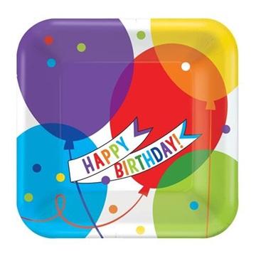 Obrázek Papírové talíře Brilliant Balloons 23 cm - 18 ks