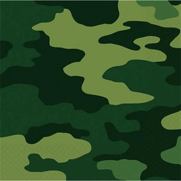 Obrázek Papírové party ubrousky Vojenské 16 ks