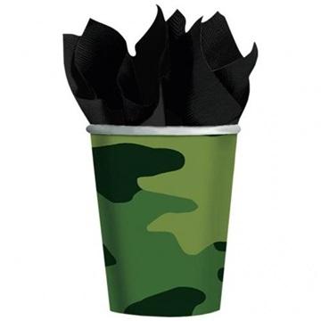 Obrázek Papírové kelímky Vojenské 8 ks