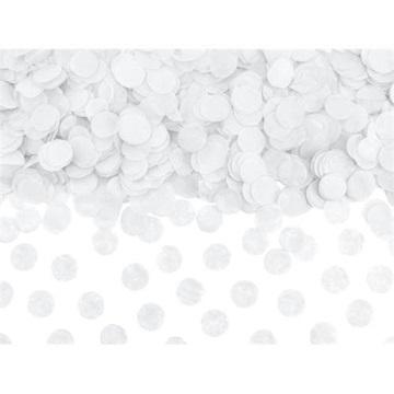 Obrázek Papírové konfety kolečka bílé 15 g