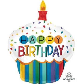 Obrázek Foliový balonek Narozeninový cupcake 73 cm