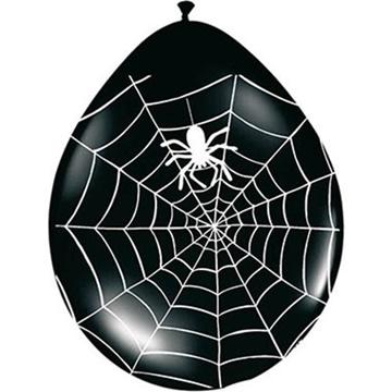 Obrázek Latexové balonky Halloween pavučina a pavouk 8 ks