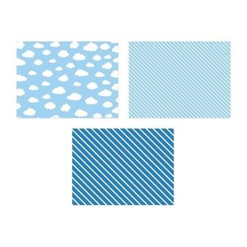 Obrázek Papírové prostírání pod talíře modré