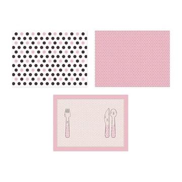Obrázek Papírové prostírání pod talíře růžové