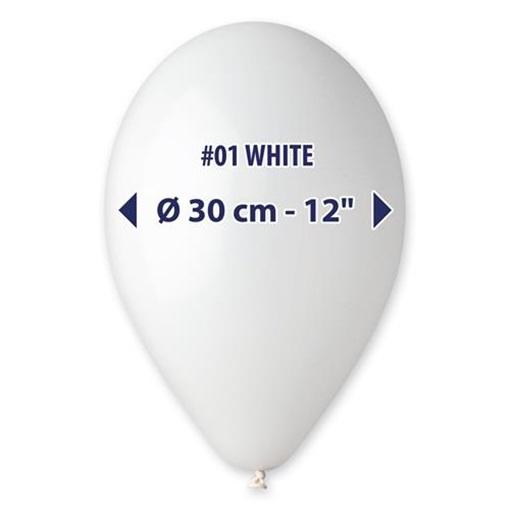 Obrázek z Balonek bílý 30 cm