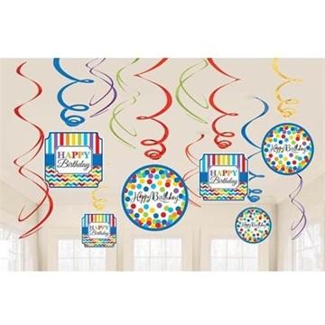 Obrázek Závěsné spirály Happy Birthday
