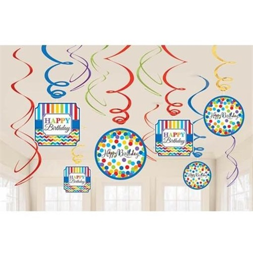Obrázek z Závěsné spirály Happy Birthday