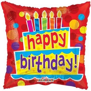 Obrázek Foliový balonek Pillow Happy Birthday 46 cm