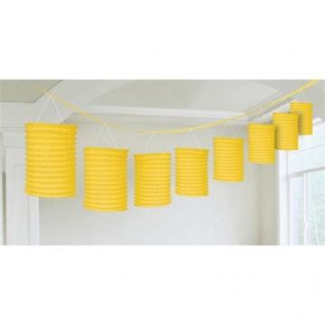 Obrázek Girlanda s lampiony žlutá 360 cm