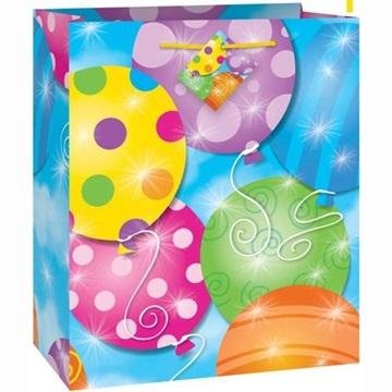 Obrázek Dárková taška barevné balonky malá 18 x 23 cm