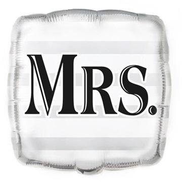Obrázek Foliový balonek čtverec Mrs 45 cm