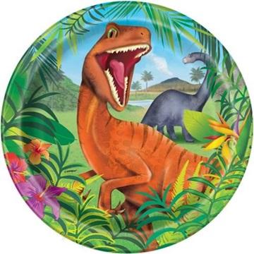 Obrázek Papírové talíře dinosaur 23 cm - 8 ks