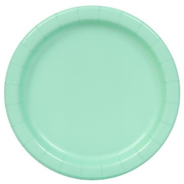 Obrázek Papírové talíře mintové 23 cm - 16 ks