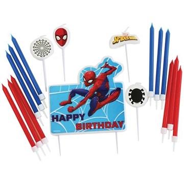 Obrázek Dortové svíčky Spiderman Happy Birthday 17 ks