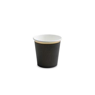 Obrázek Papírové kelímky malé černé 100ml - 6 ks