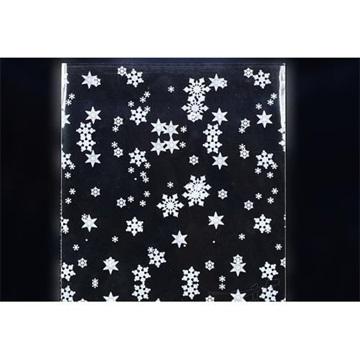 Obrázek Celofánový sáček - bílé vločky 20 x 30 cm