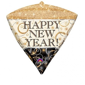 Obrázek Foliový balonek diamant Happy New Year 45 cm