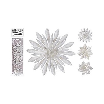 Obrázek Dekorační květy lesklé 4 ks