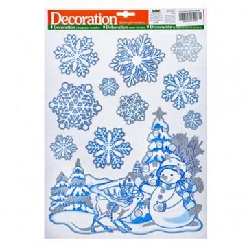 Obrázek Vánoční dekorace na okno - sněhulák