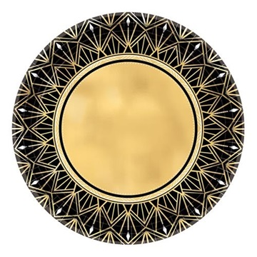 Obrázek Papírové talíře Lights Glitz 26 cm - 8 ks