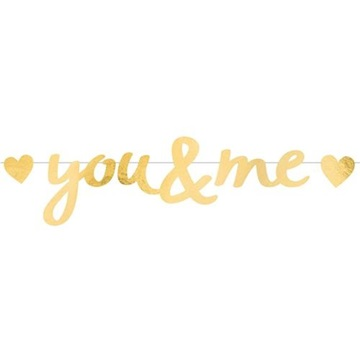 Obrázek Party nápis Everyday Love You and Me 92 cm