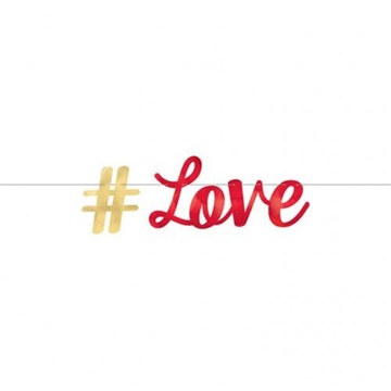 Obrázek Party nápis Everyday Love hashtag Love 92 cm