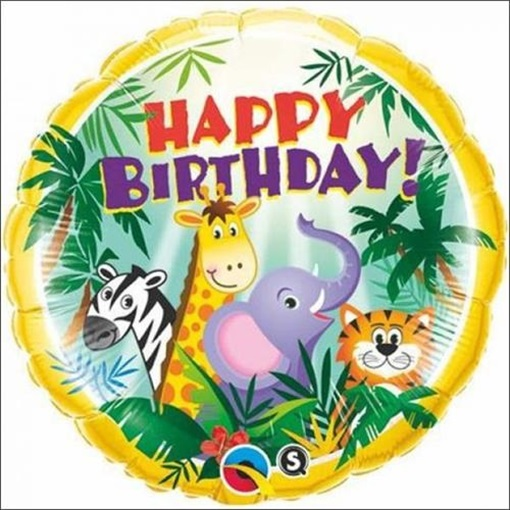 Obrázek z Balonek Happy Birthday džungle 46 cm