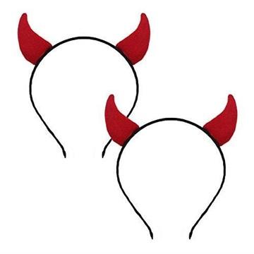 Obrázek Čertovské rohy na čelence malé červené