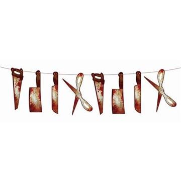 Obrázek Papírová girlanda Halloween - krvavé nástroje