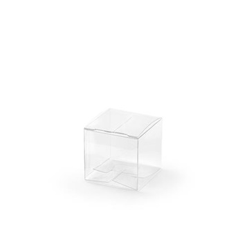 Obrázek Dárková svatební krabička průhledná krychle - 1 ks