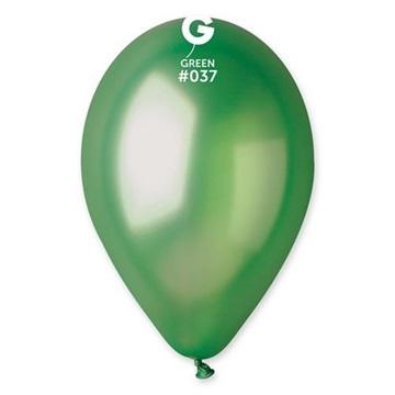 Obrázek Metalické balonky 26 cm - zelené 100 ks