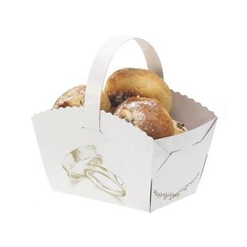 Obrázek Svatební košíček s ouškem Prstýnky