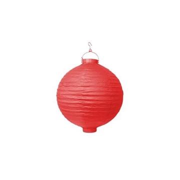 Obrázek Lampion se světýlkem 20 cm červený