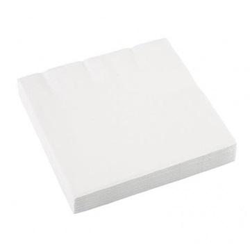 Obrázek Papírové party ubrousky malé bílé 20 ks