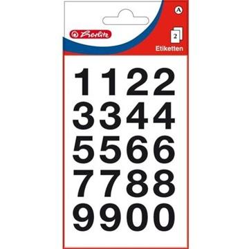 Obrázek Samolepící etiketa - velká čísla