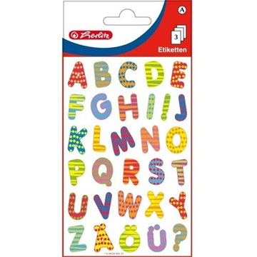 Obrázek Samolepící etiketa - barevná písmena