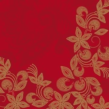 Obrázek Papírové party ubrousky květy bordó 20 ks