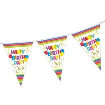 Obrázek Vlaječková girlanda Happy Birthday 4 m