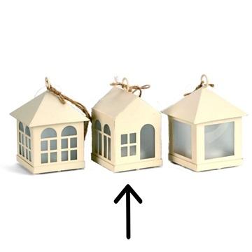 Obrázek Závěsná svíticí dekorace domeček - dveře a okna