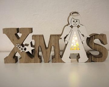 Obrázek Svícen dřevěný X-Mas