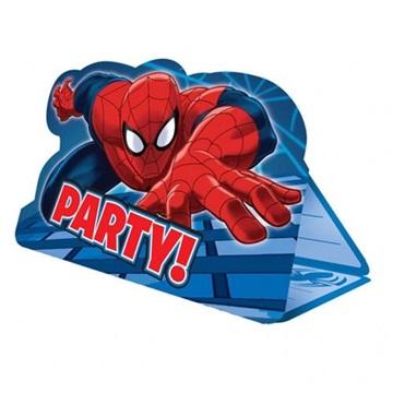 Obrázek Party pozvánky s obálkou Spiderman 8 ks