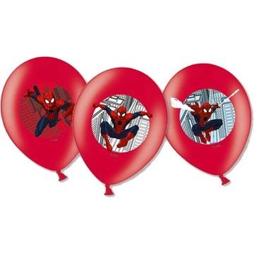 Obrázek Latexové balonky Spiderman barevný potisk 27 cm - 6 ks
