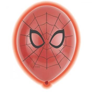 Obrázek Latexové LED balonky Spiderman 28 cm - 5 ks