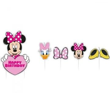 Obrázek Dortové svíčky Minnie Mouse 17 ks