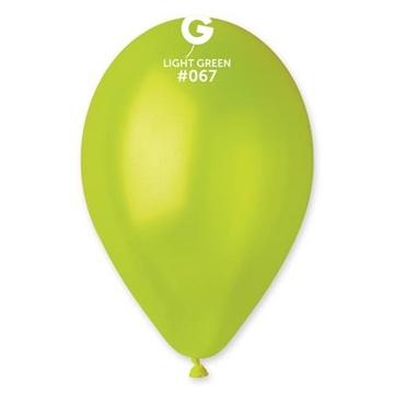 Obrázek Metalické balonky 26 cm - světle zelené 100 ks