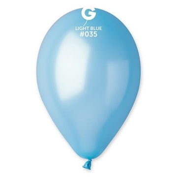 Obrázek Metalické balonky 26 cm - světle modrý 100 ks