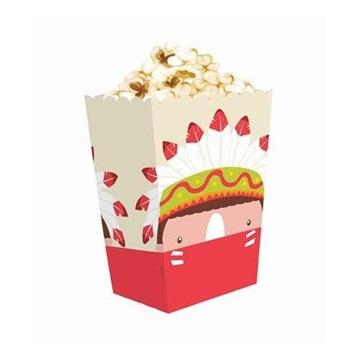 Obrázek Krabičky na popcorn Indiánské 4 ks
